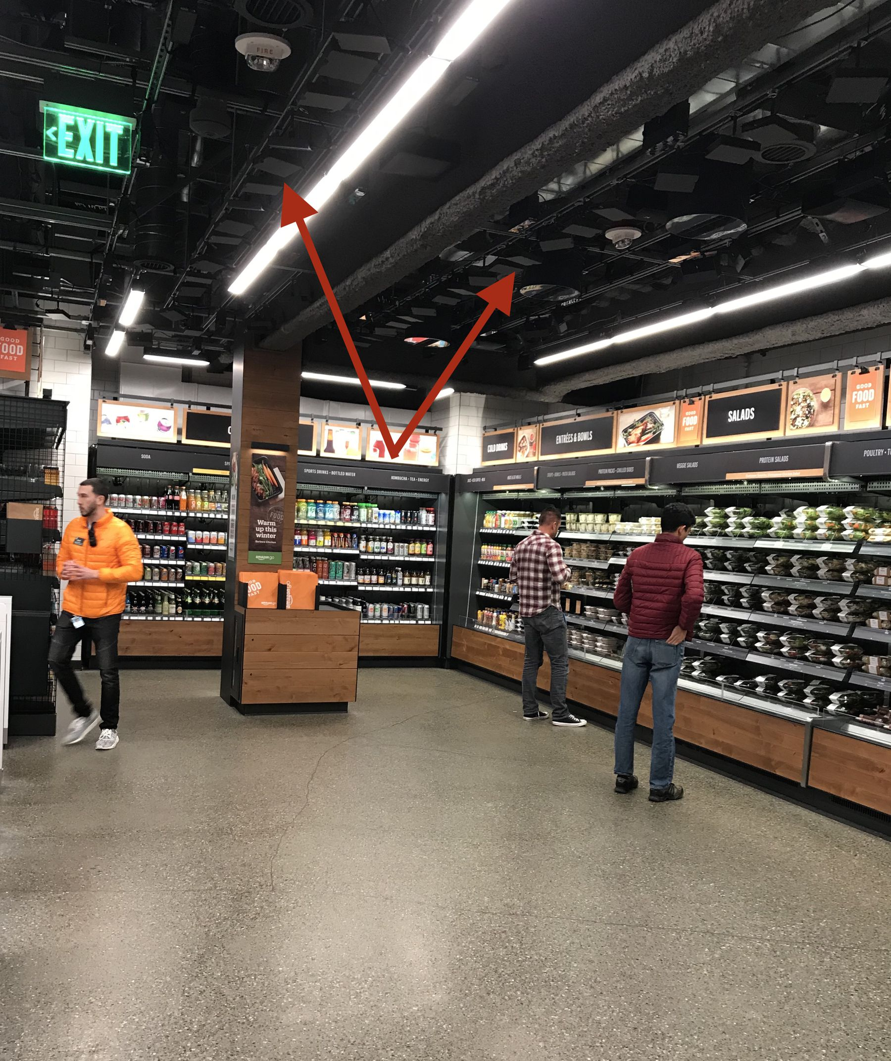The inside of Amazon's new Go convenience store in Seattle