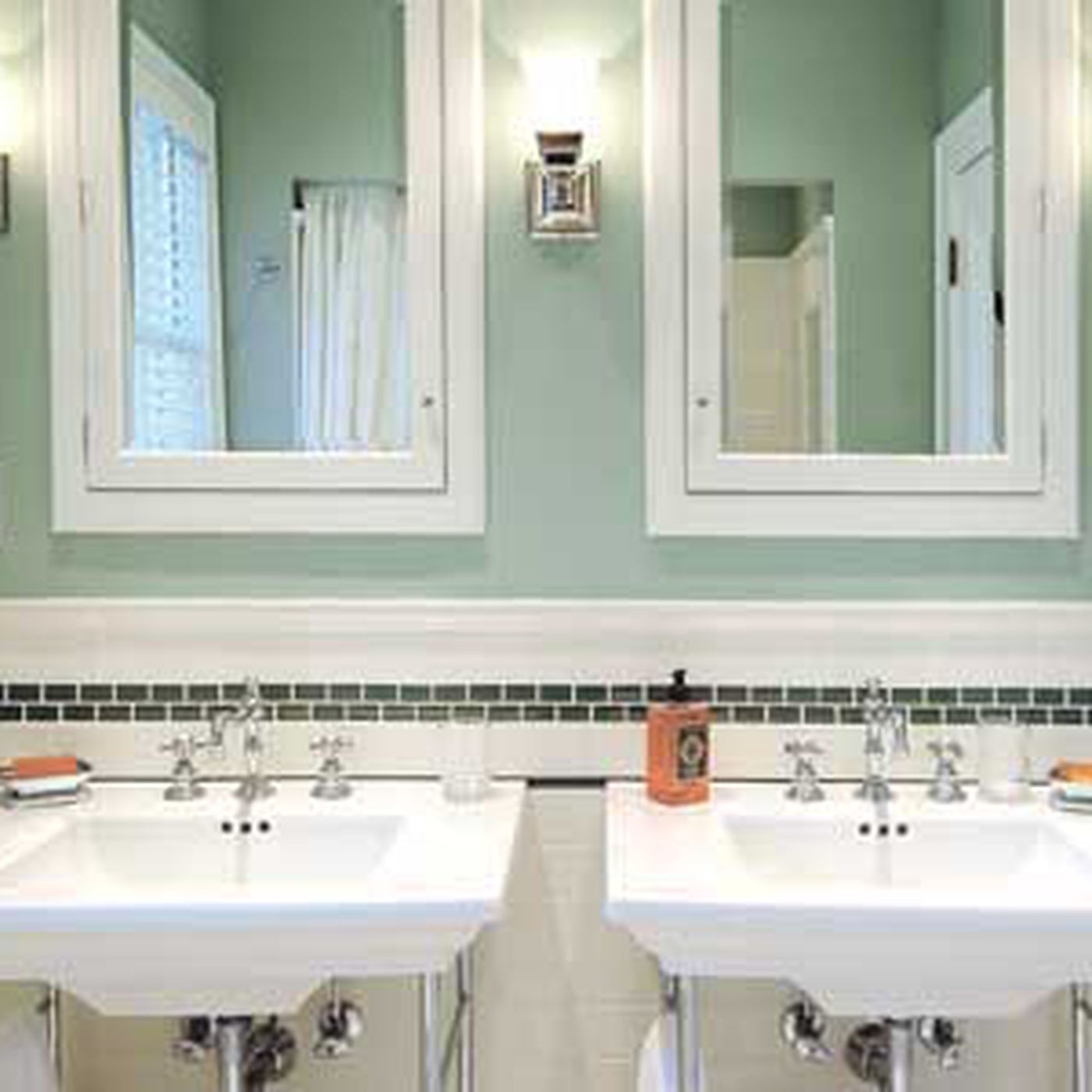 Modern Bath Vintage Looks This Old House