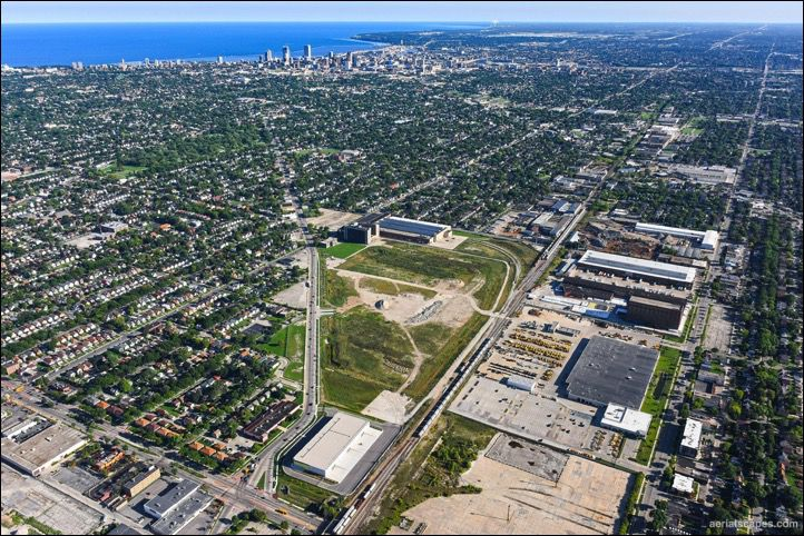 Overhead photo of Milwaukee northsideneighborhoods.