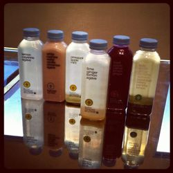 The juices, including the just-launched lime, ginger, lemon and agave.