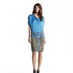 Loose boatneck tee, $44*; Drawstring skirt, $54*