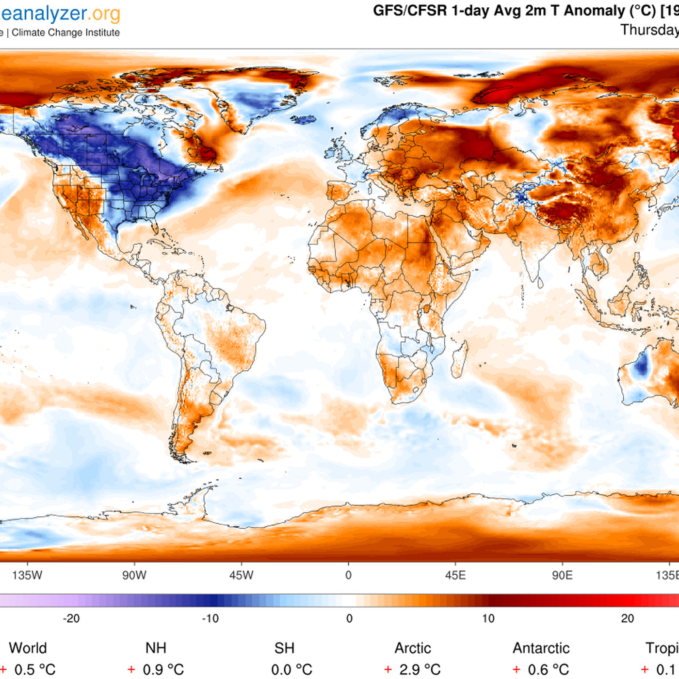 trump thinks climate change isn t real because it s cold out this map proves him wrong vox