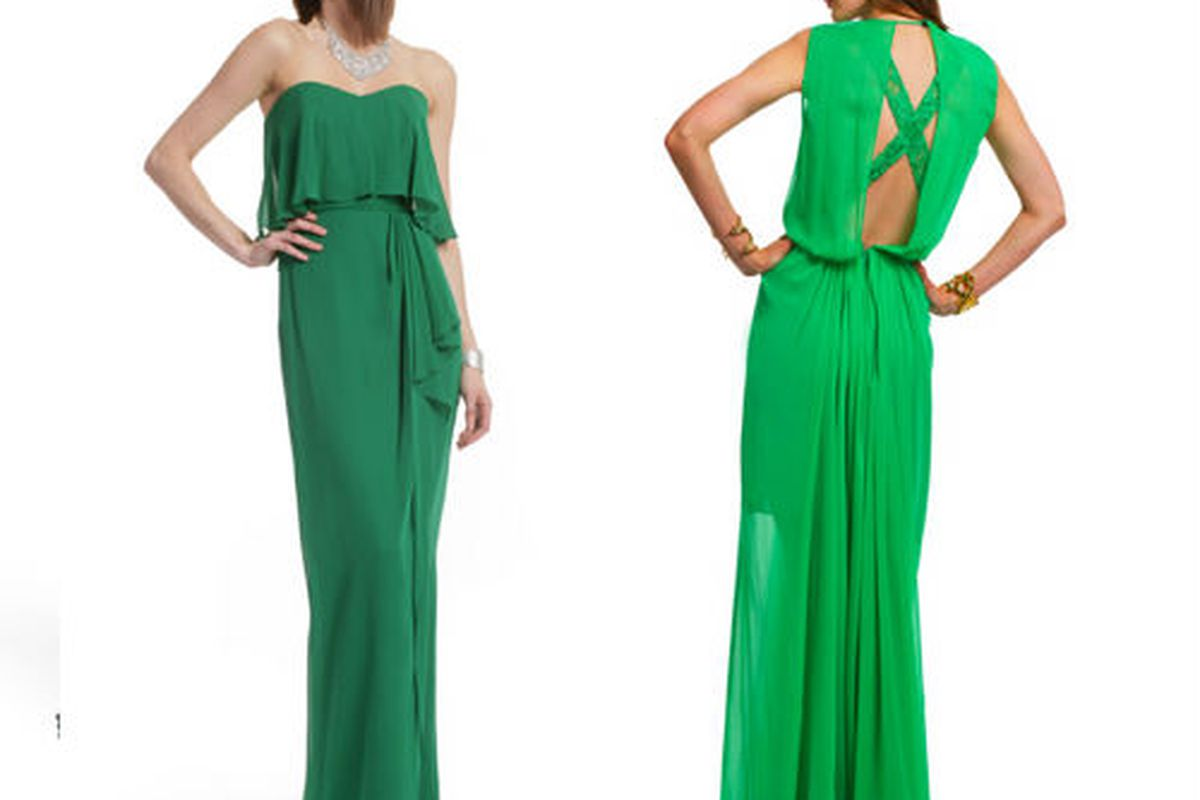 All shades of green for 30% off today at Rent The Runway