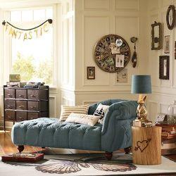 The Emily + Meritt Denim Chaise Lounge, $799.