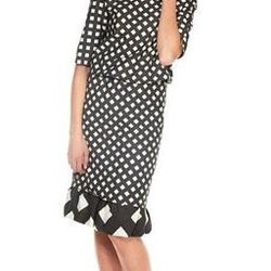 """<a href=""""http://www.marcjacobs.com/marc-jacobs/womens/ss12-and-re12-ready-to-wear/w41270564/gingham-3-4-sleeve-boatneck-dress"""">Gingham 3/4 Sleeve Boatneck Dress</a>, $840 (was $1,400)"""