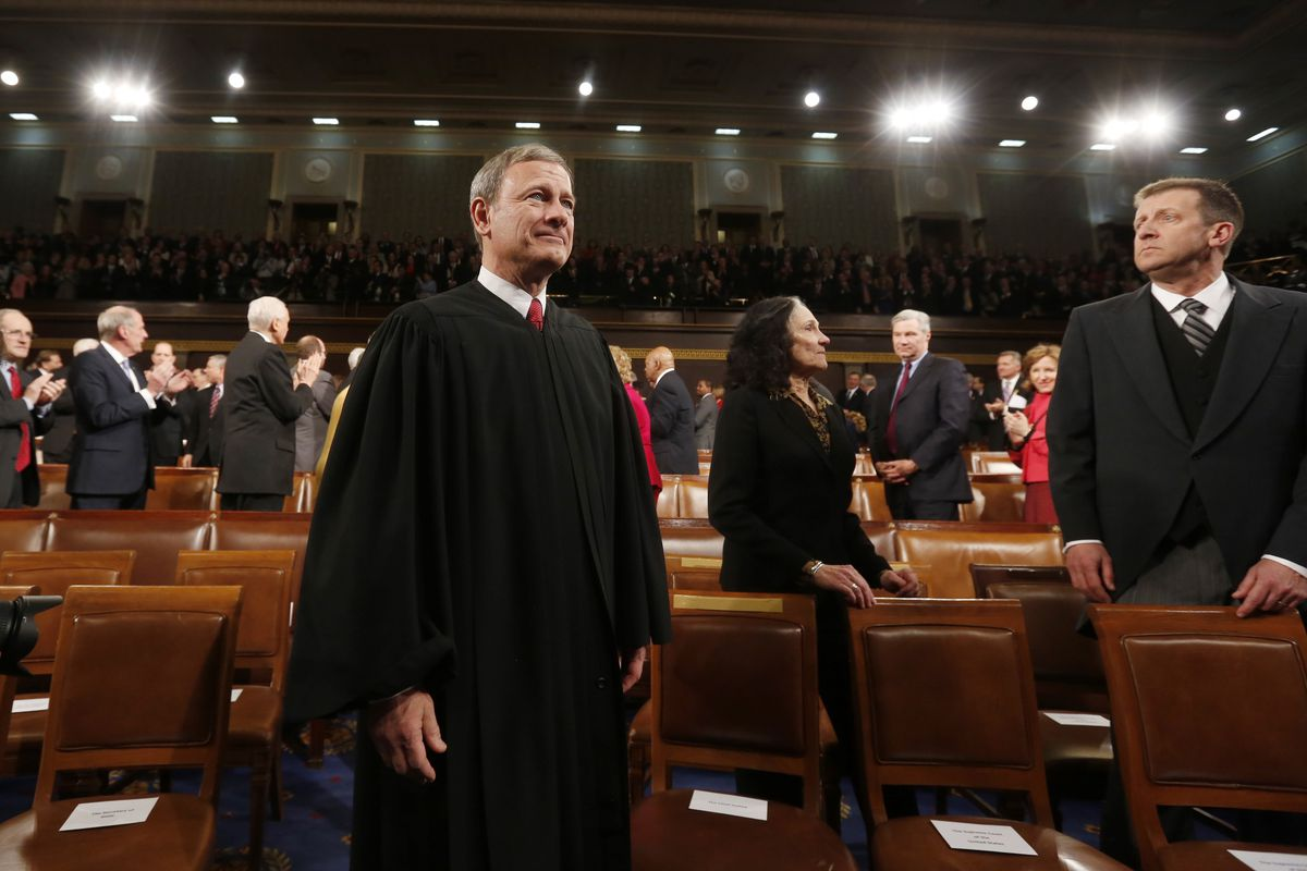 Chief Justice John Roberts, at the State of the Union address in 2014.