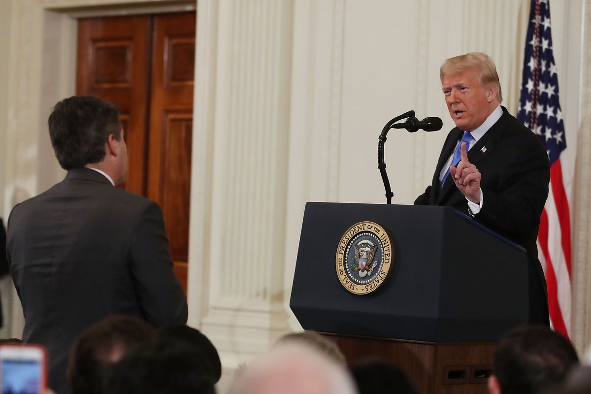 Shorter White House Statement On >> Cnn Sues White House For Using Doctored Video To Bar Jim Acosta Vox