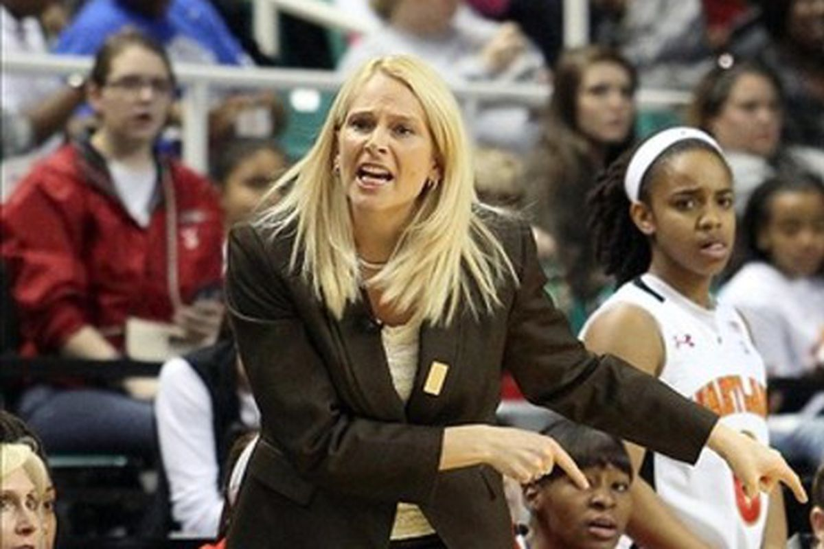 Maryland coach Brenda Frese brings her #7 team to Winston-Salem Friday night.
