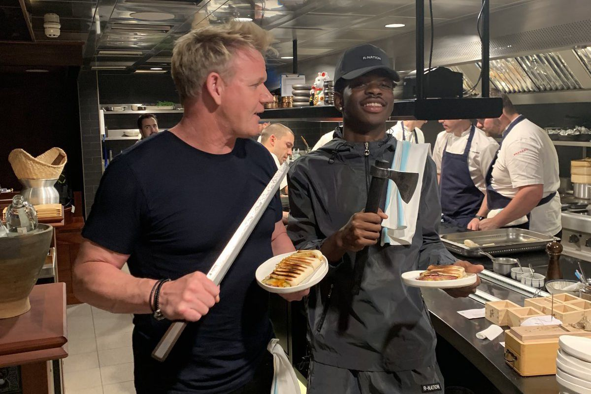 Lil Nas X song Panini inspired Gordon Ramsay and the country rapper to make panini in London