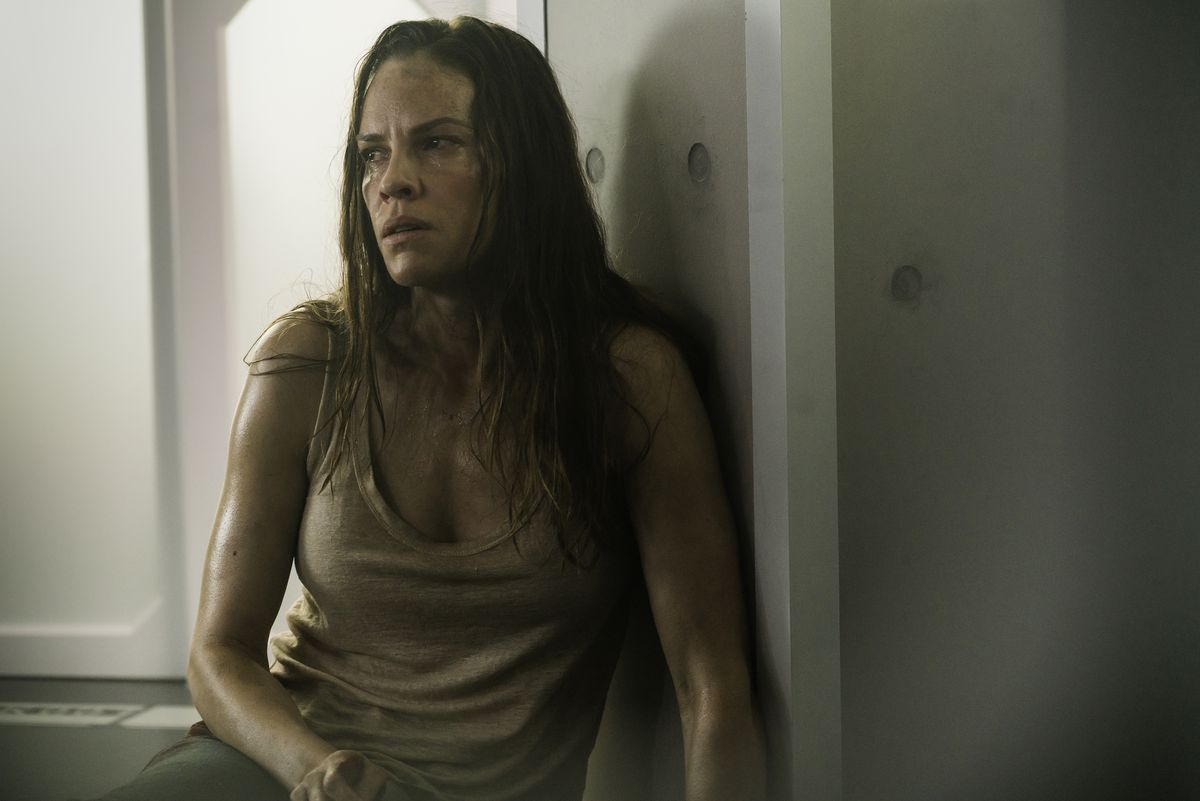 Hilary Swank as the wounded stranger.