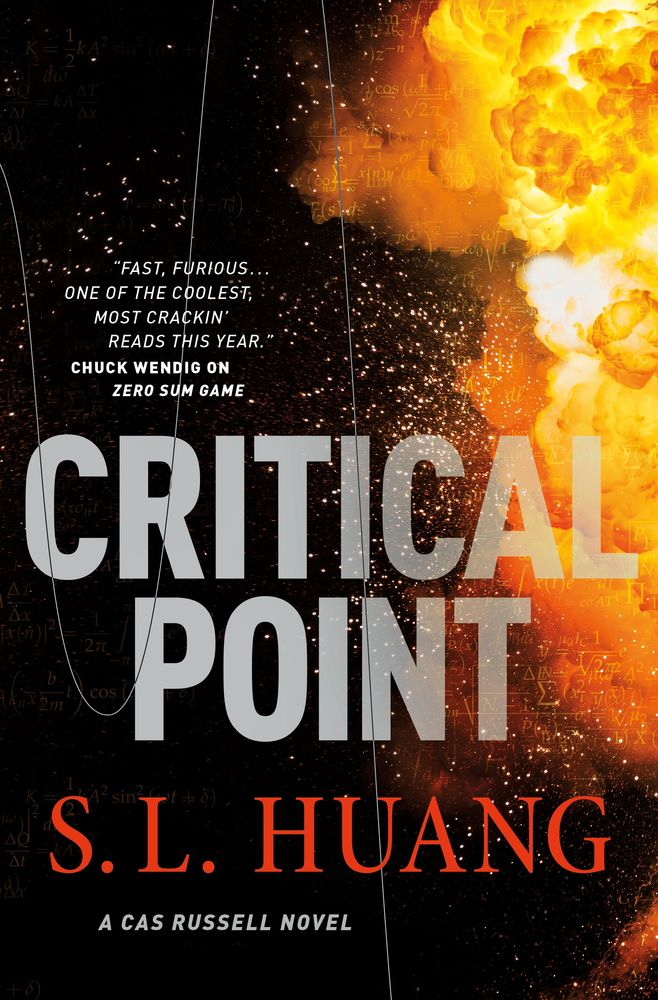 Critical Point by S.L. Huang cover with an explosion