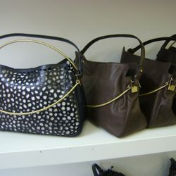 Loving the bag on the left. On the right are the most affordable bags at the sale.