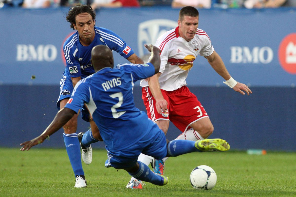 MONTREAL, CANADA - JULY 28:  Nesta and Rivas shut down the then-East leading Red Bulls. Can Nesta and Matteo Ferrari do the same to Wondolowski and the Quakes?  (Photo by Richard Wolowicz/Getty Images)