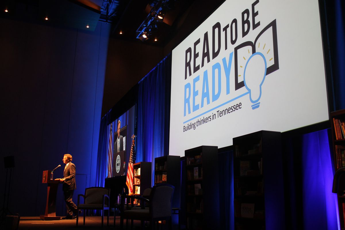 Gov. Bill Haslam speaks during the statewide launch of Read to be Ready in 2016.