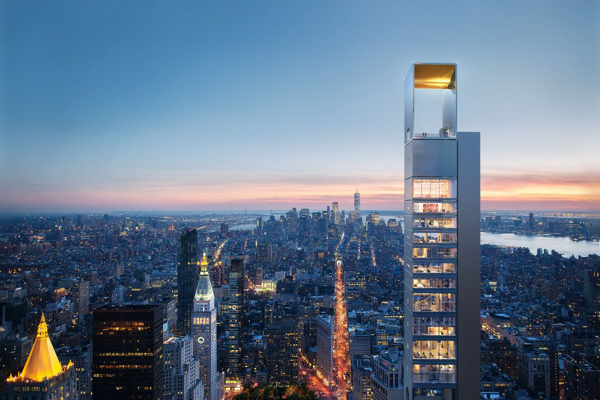New york 39 s newest supertall skyscraper preps for its 1 001 for Architecture nomade