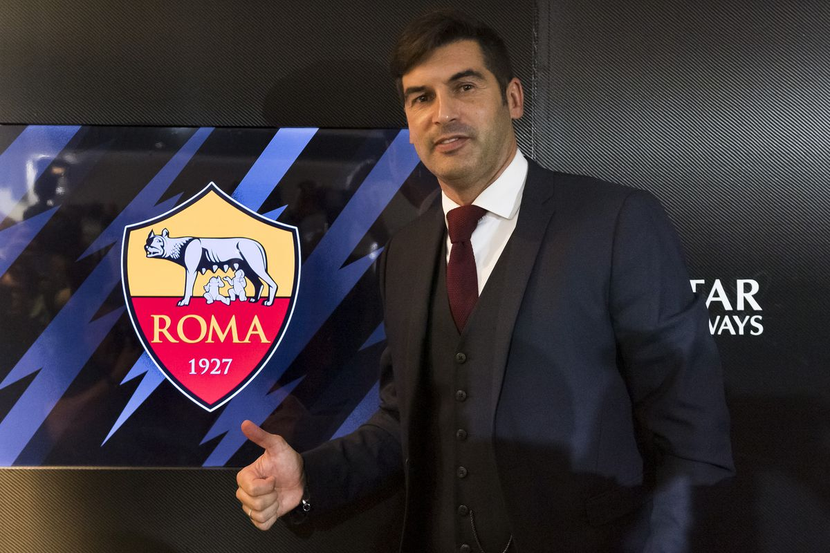 Paulo Fonseca attends his first press conference as AS Roma...