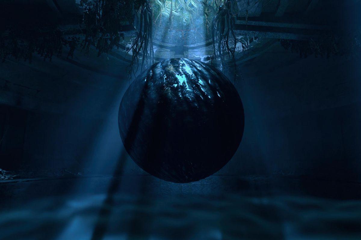 A creepy orb in Returnal