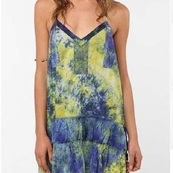 """<a href=""""http://www.urbanoutfitters.com/urban/catalog/productdetail.jsp?id=24146649""""><b>Urban Outfitters</b> Ecote Tie-Dye Lace Dress</a>, $29.99 (was $54)"""