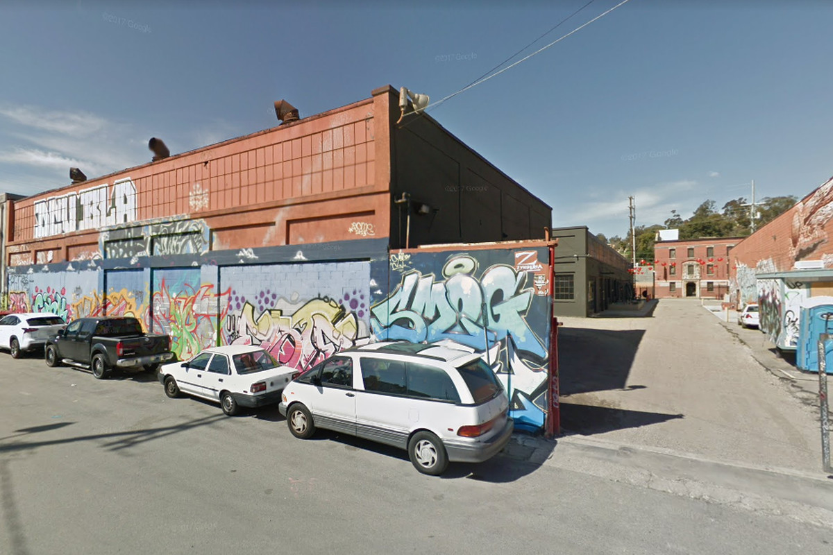 A screenshot from Google Maps of the former commercial warehouse where the music venue is proposed.