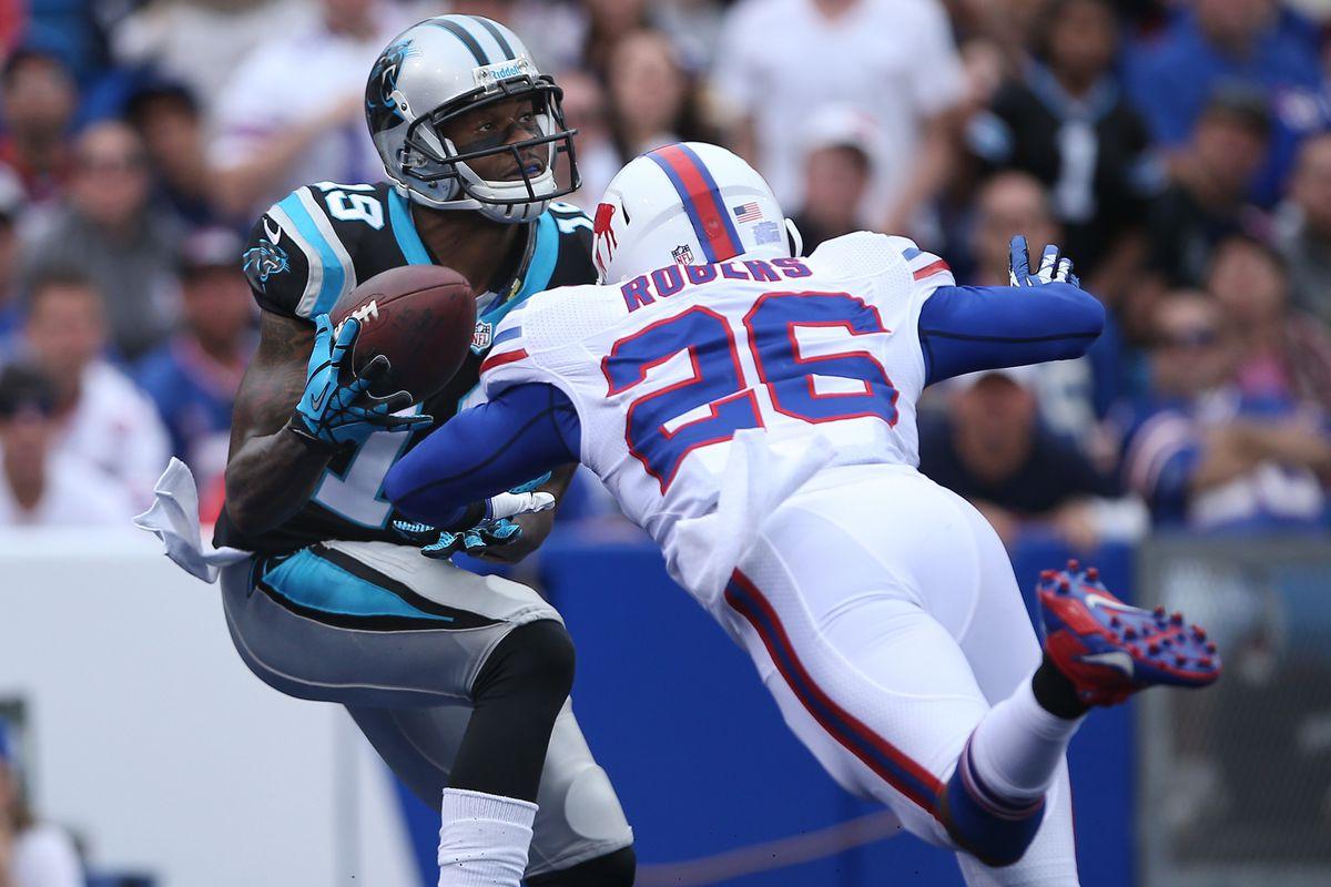 Ted Ginn Jr. hauls in a 40-yard touchdown against the Bills.