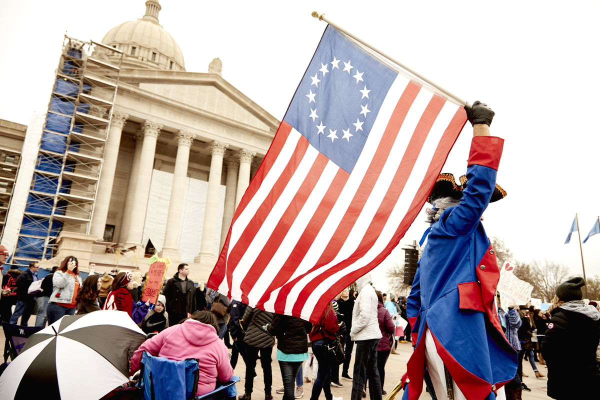 Oklahoma teachers led a massive strike in front of the state capitol demanding higher pay on April 2, 2018.