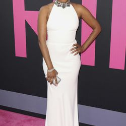 """Tiffany Haddish arrives at the World Premiere of """"Girls Trip"""" at the Regal L.A. Live on Thursday, July 13, 2017, in Los Angeles."""