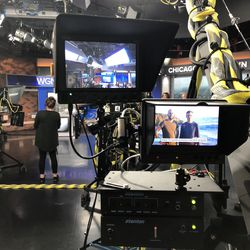 Behind the scenes of the WGN Morning News.   Brian Rich for the Sun-Times