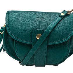 "<b>Jérôme Dreyfuss</b> Momo crossbody bag in emerald, <a href=""http://www.shopzoeonline.com/shopping/women/item10345677.aspx"">$500</a> at Zoë"