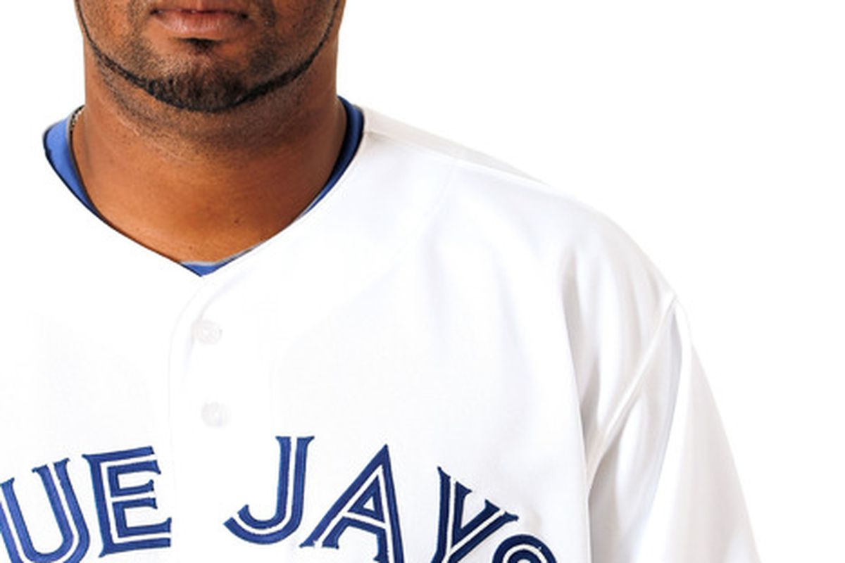 DUNEDIN, FL - MARCH 02:  Francisco Cordero #48 of the Toronto Blue Jays poses for a portrait at Dunedin Stadium on March 2, 2012 in Dunedin, Florida.  (Photo by Jonathan Ferrey/Getty Images)