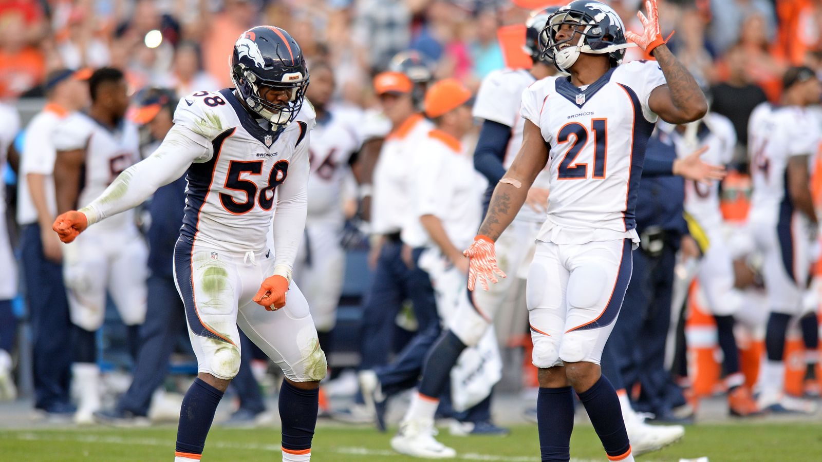 Broncos Chargers Reactions Broncos Players Tweet Out 100s