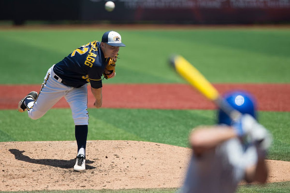 Nick Jensen-Clagg tossed a near-complete game in an elimination game against Kentucky.