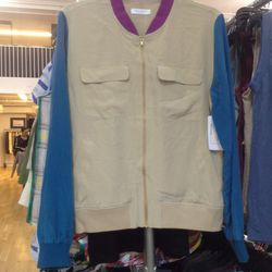 Equipment silk jacket, $60