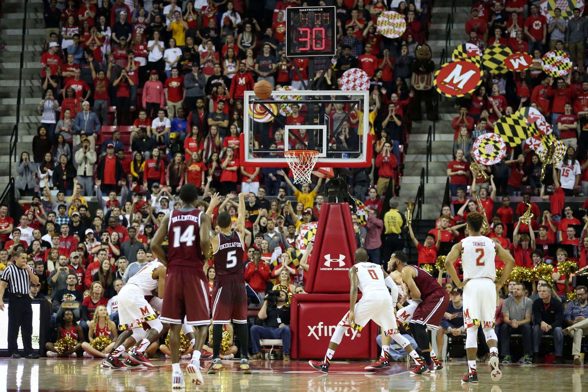 Shooting foul shots into The Wall at Xfinity Center is no easy proposition.