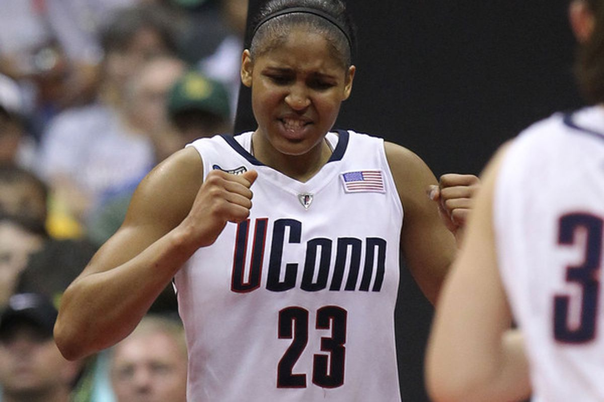 UConn's Maya Moore who was named the co-winner of the Honda-Broderick Cup. The award is given each year to the top athlete in women's college sports.