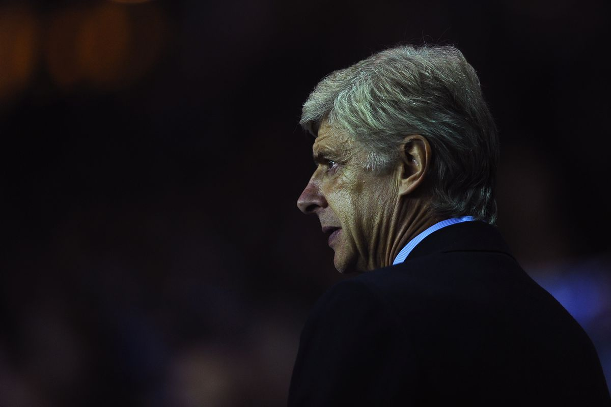 Arsene wasn't a happy bunny during the Arsenal game