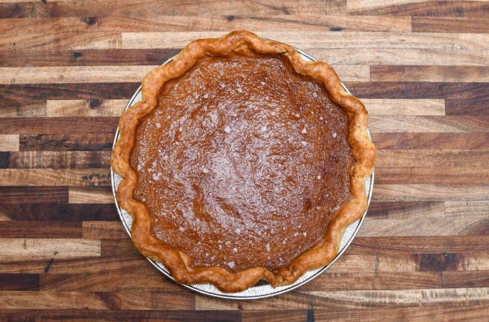 Salted honey chess pie
