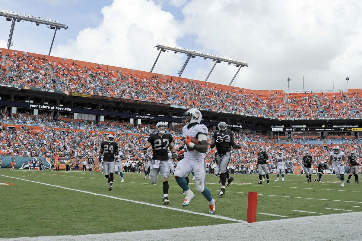 Miami Dolphins fans hope to see more of this from Lamar Miller in 2013.