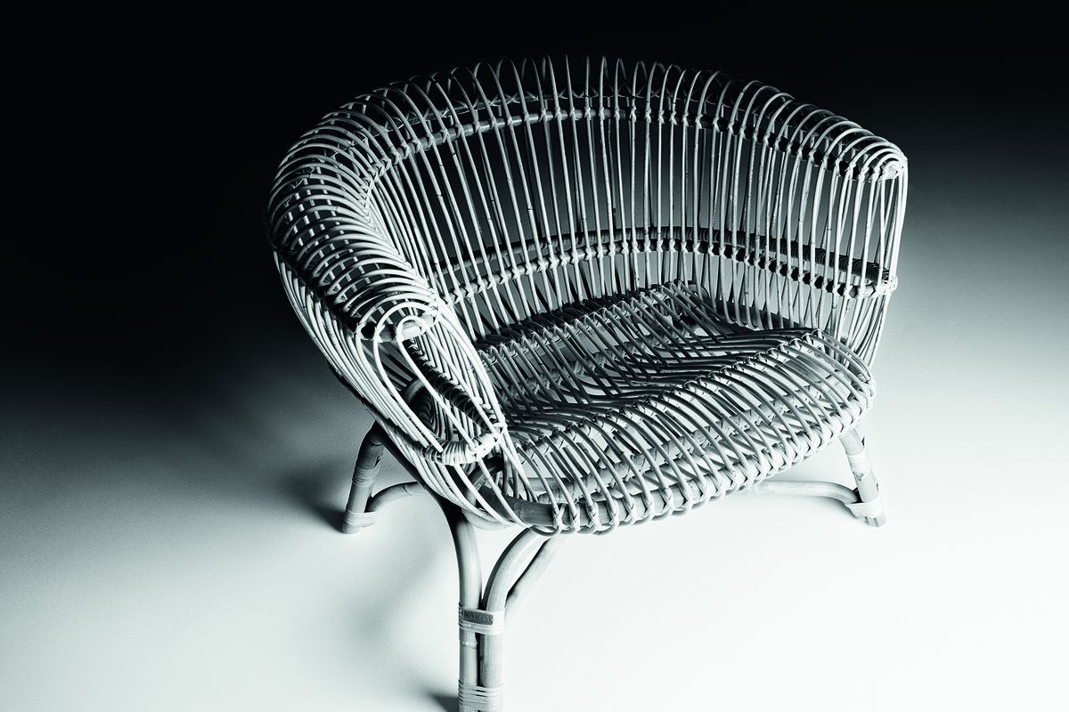 Silvia armchair (1960) by Paolo Tilche, reissued by De Padova.