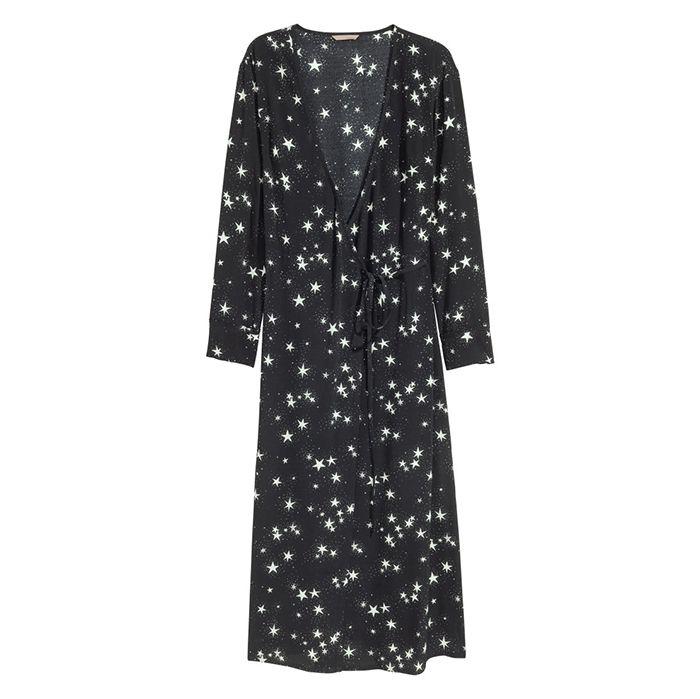 H&M Plus Patterned Wrap Dress