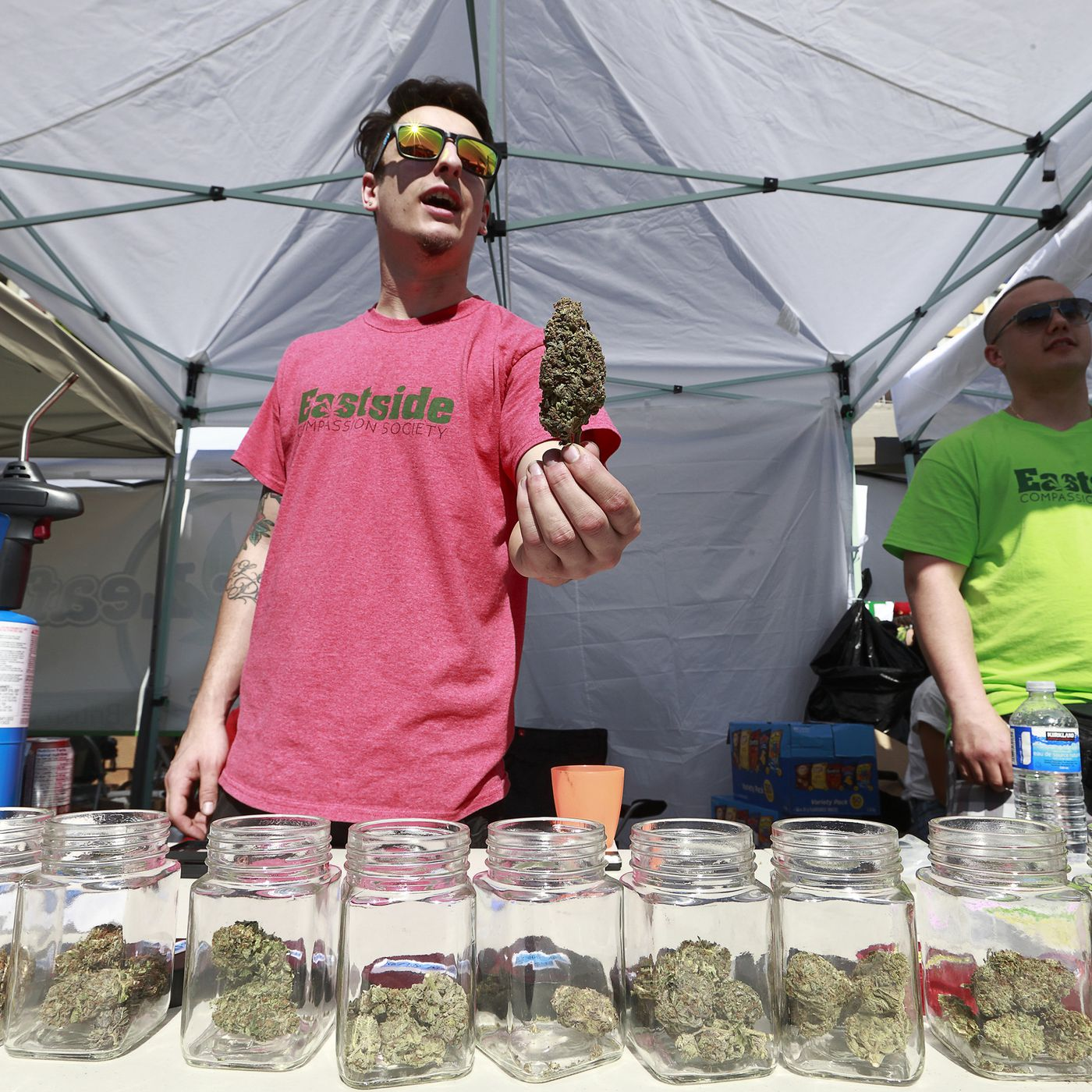 Legal pot's biggest supporter and its strongest critic have joined