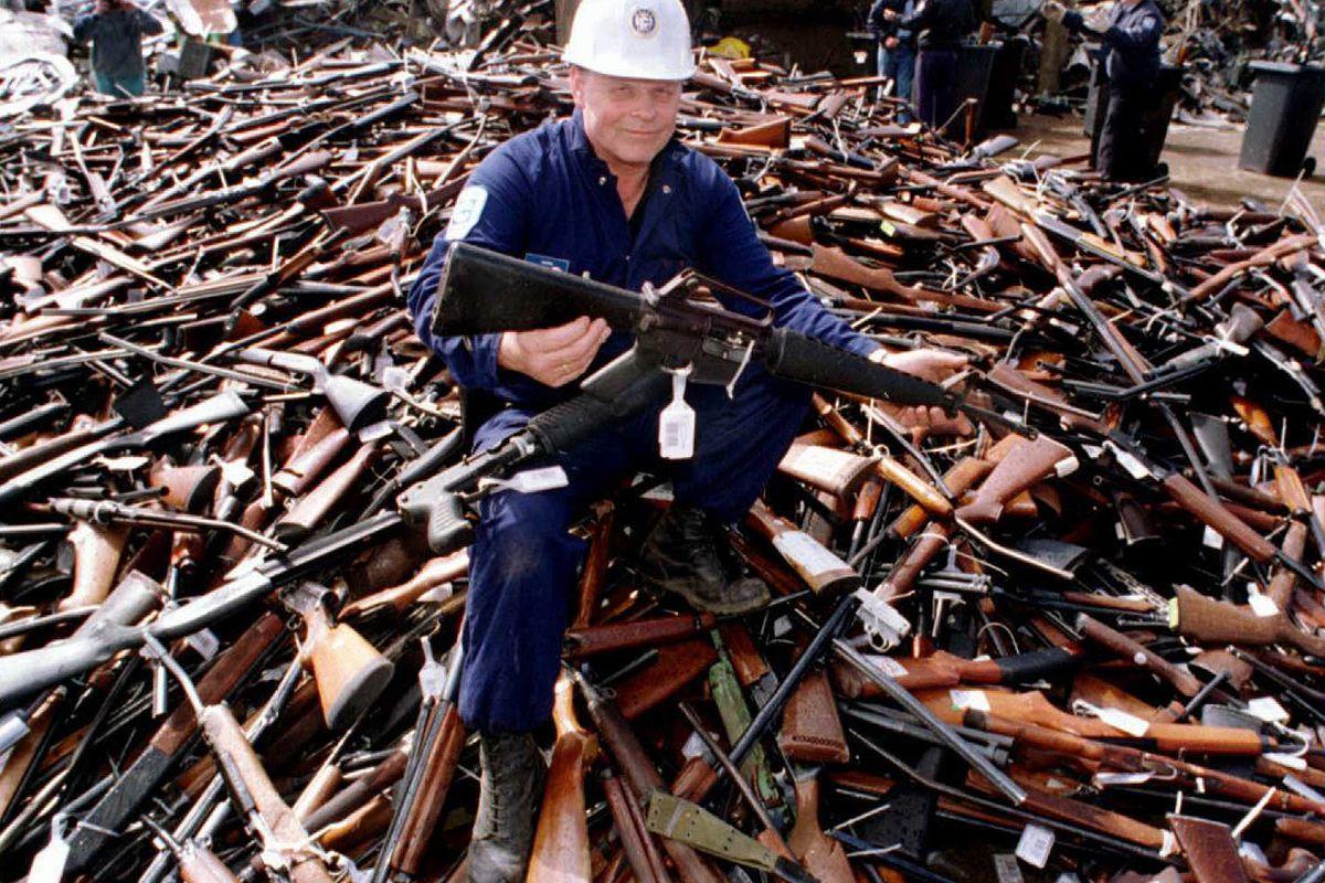 Australia's gun buyback program in action.