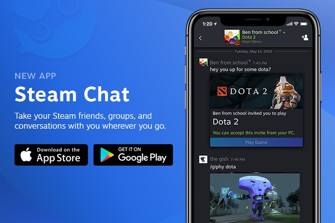 Valve releases Steam Chat app for iOS and Android - The Verge