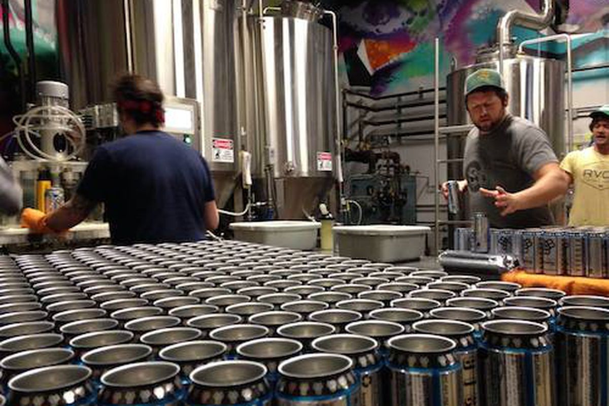 Canning Day at Bissell Brothers Brewing Company