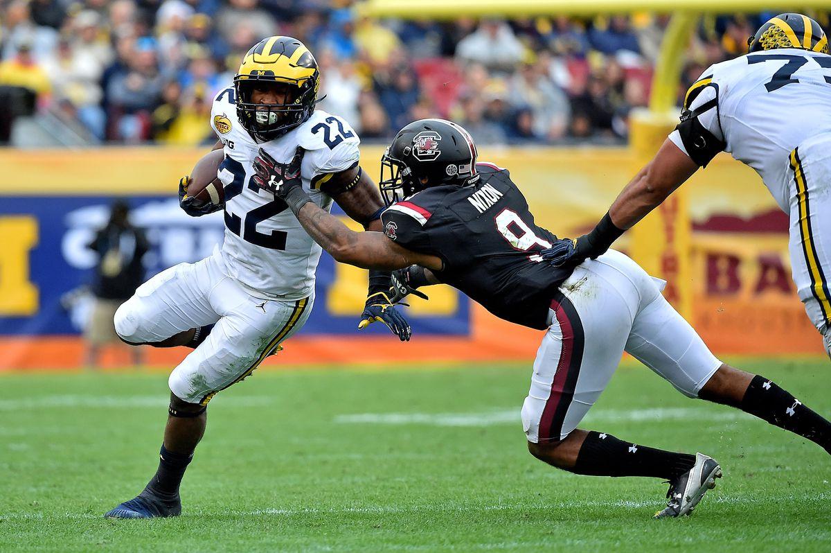 NCAA Football: Outback Bowl-Michigan vs South Carolina