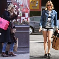 """Chlöe with her Tory Burch purchase in Nolita via <a href=""""http://images.rdujour.com/wp-content/uploads/2009/12/chloesievshoshpay234dasdxmsd2.jpg"""" rel=""""nofollow"""">rdujour</a> (on left); Chloe with a shopping tote via <a href=""""http://www.fashionschoolde"""