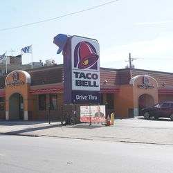 Another view of the soon to be demolished Taco Bell on Addison Street