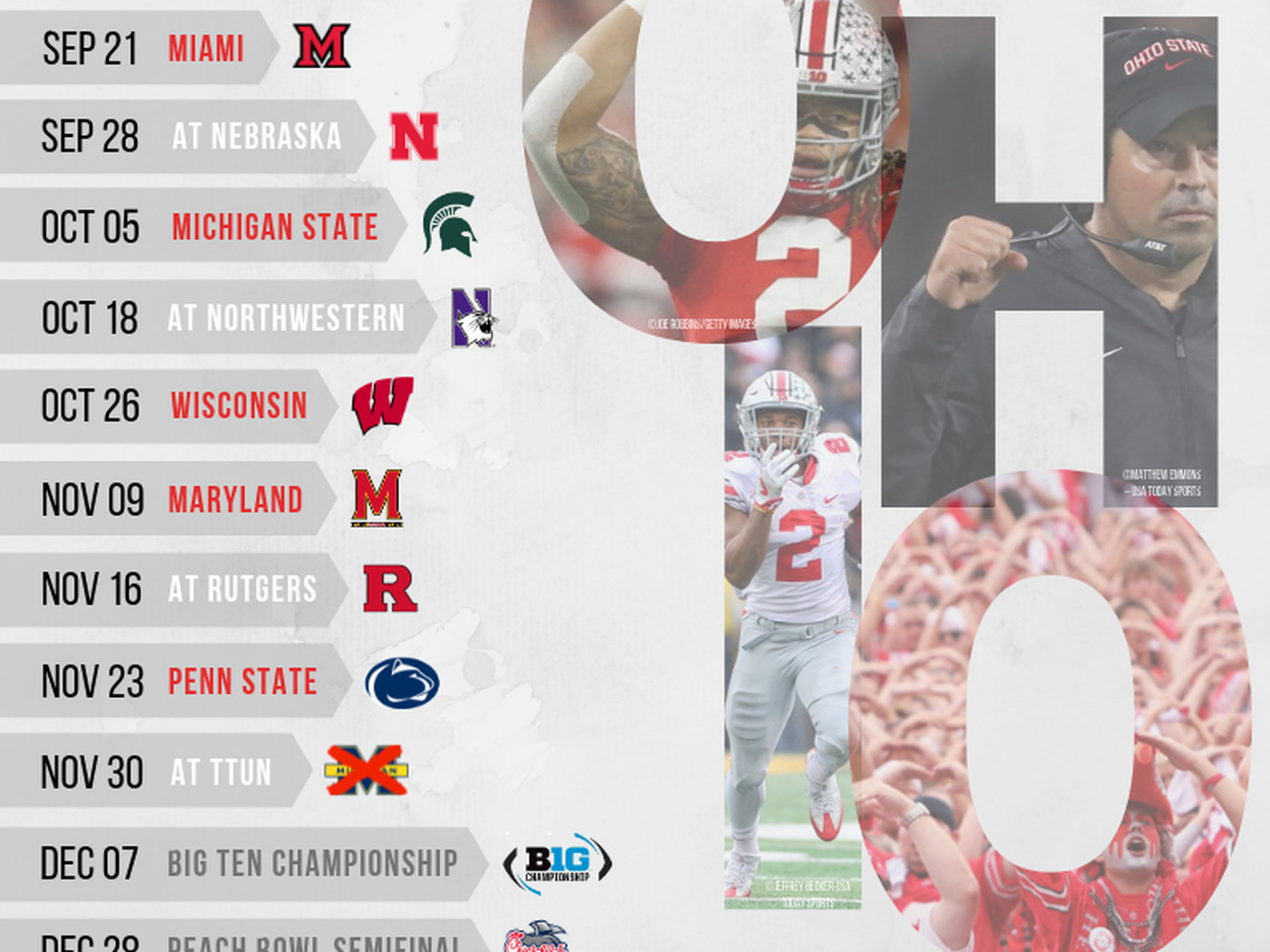 Printable 2019 Ohio State Football Schedule Land Grant