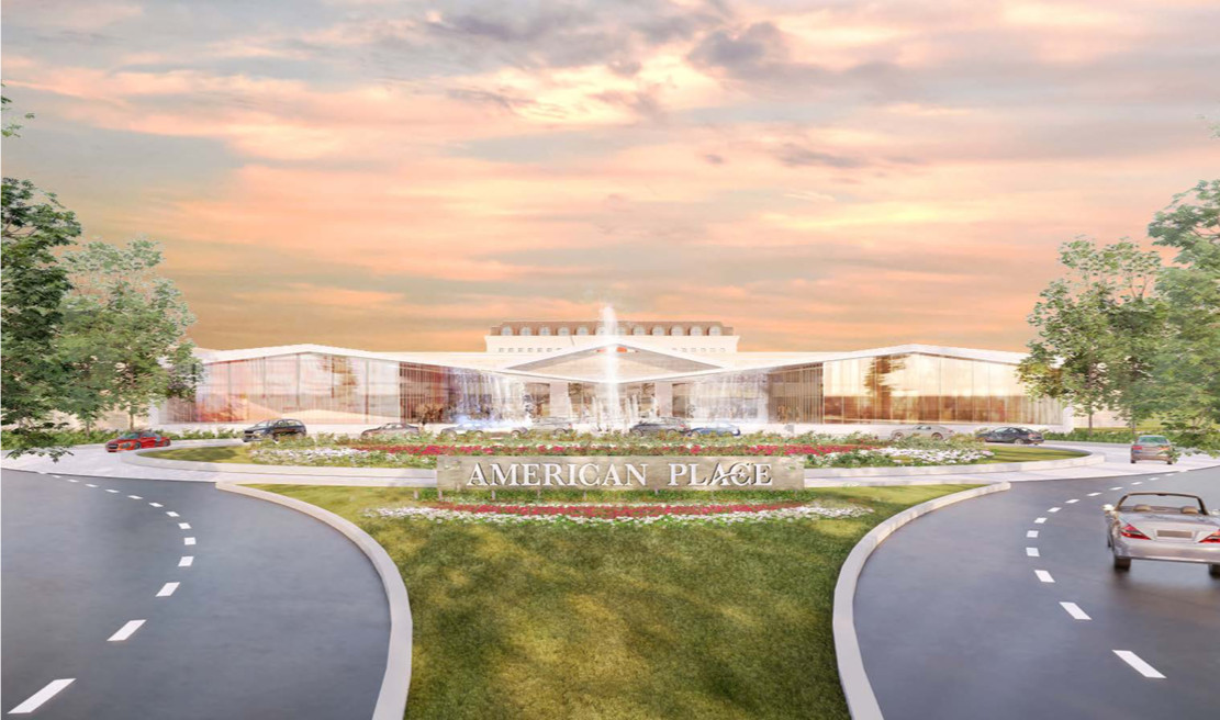 """Artist's rendering of the proposed """"American Place"""" casino in Waukegan."""