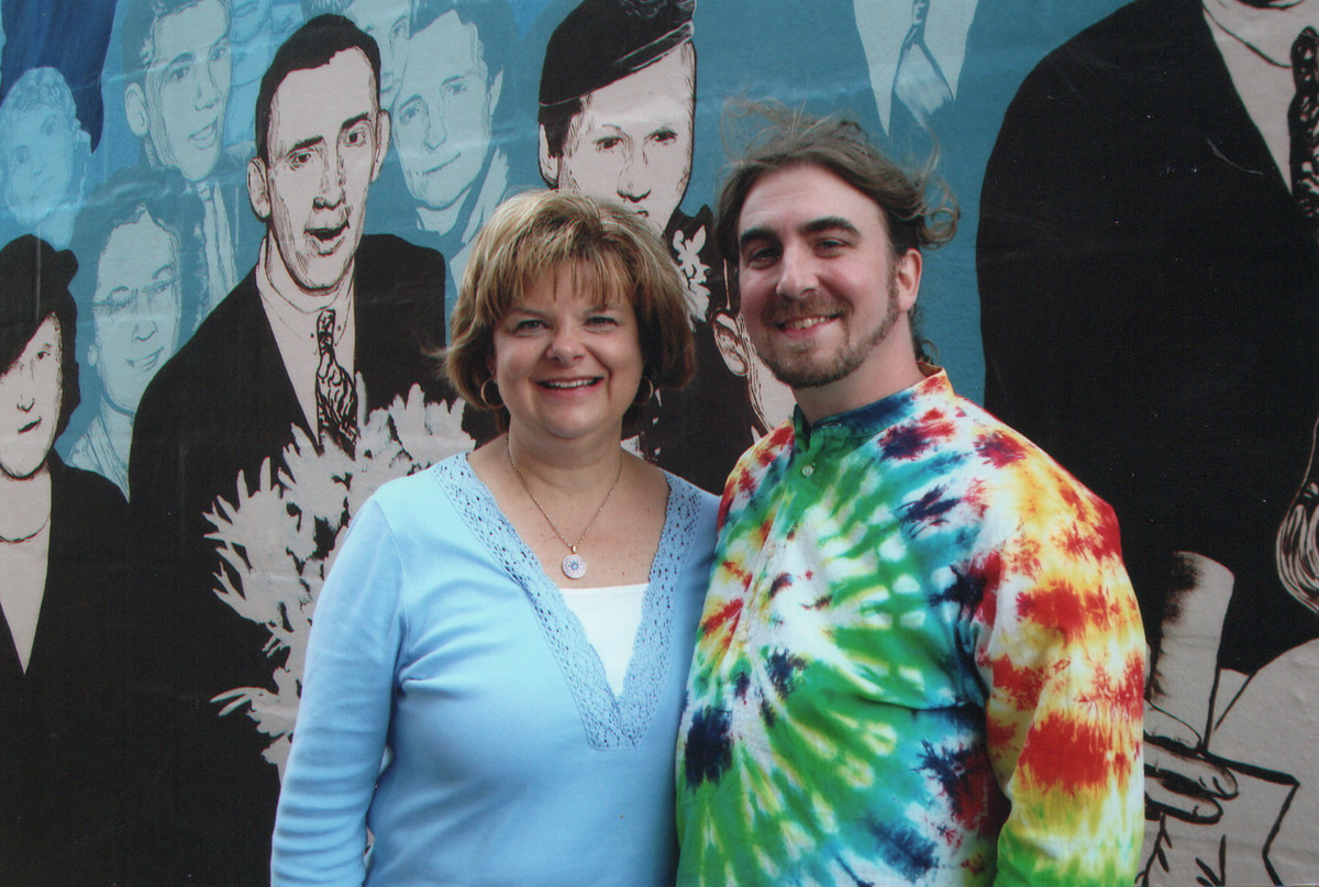 Art teachers Mona Parry and Rob Moriarty have painted murals that depict Lemont's history and pride.