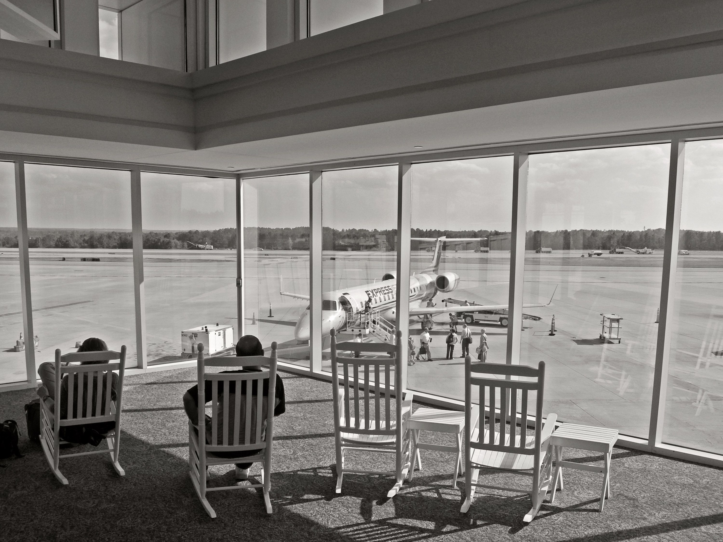 Here s why so many airports have rocking chairs